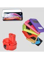Поступление аккумуляторов для электроинструментов, защитных стекол для телефонов, чехлов на смартфоны и аккумуляторных батарей!