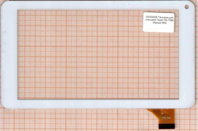 Тачскрин для планшета DEXP URSUS A170i (белый) (325)