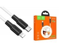 Кабель для iPhone HOCO X21 Plus Silicone PD charging data cable for Type-C to Lightning 1м белый