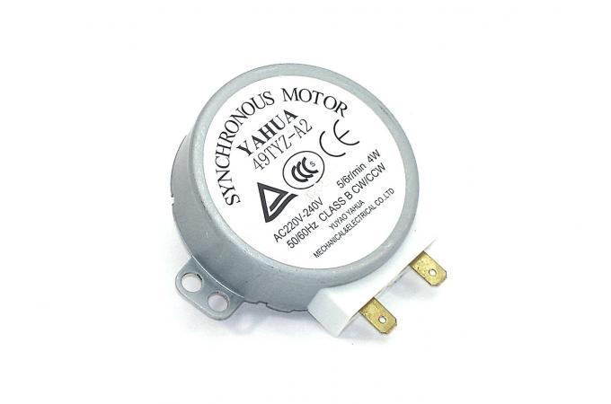 Электродвигатель (мотор) вращения тарелки для свч (микроволновой) печи 220V 4W шток-8mm