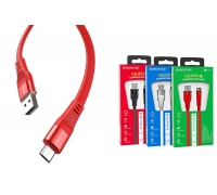 Кабель USB micro USB BOROFONE BU18 Crown Silicone Charging data cable (красный) 1 метр