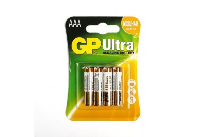 Батарея щелочная GP LR03 BL4/ААА упаковка картон цена за 4 шт