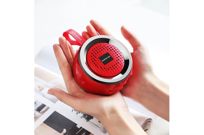 Портативная беспроводная акустика BOROFONE BR2 Aurora sport  цвет красный