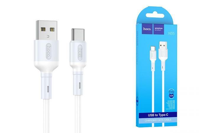 Кабель USB - USB Type-C HOCO X65, 3A белый 1м