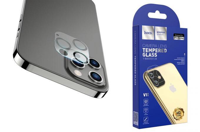 Защитное стекло камеры iPhone 12 Pro Max (6.7) HOCO Lens flexible tempered film for iPhone12 Pro Max (V11) прозрачное