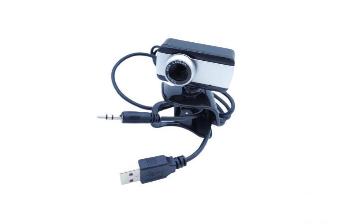 Настольная вебкамера с прищепкой клипсой на монитор вариант 2