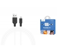 Кабель USB micro HOCO X21 Plus Silicone charging cable  (черно-белый) 1 метр