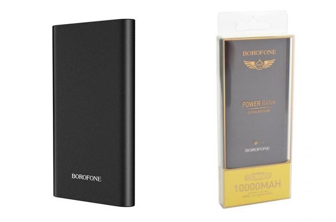 Универсальный дополнительный аккумулятор BOROFONE BT19 power bank (10000 mAh) черный