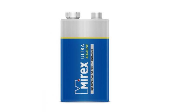 Батарея щелочная Mirex 6LR61 / Крона 9V  цена за 1 шт (1/12/240), блистер (23702-6LR6-E1)