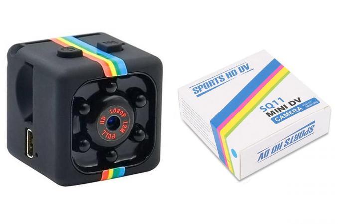 Экшн камера мини SQ11 (цвета в ассортименте, мятая коробка)