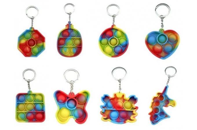 Брелок для ключей Popit (формы и цвета в ассортименте)