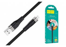 USB D.CABLE micro USB HOCO X53 Angel silicone charging cable for Micro (черный) 1 метр