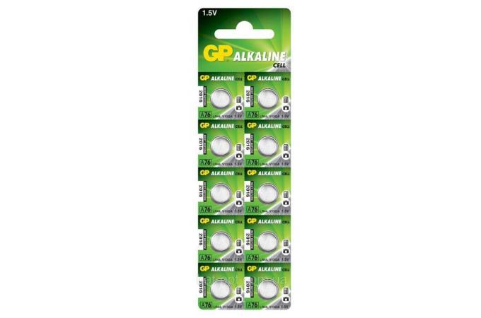 Батарейка часовая GP  AG13/A76 (LR44 ) BL10 (цена за блистер 10 шт)