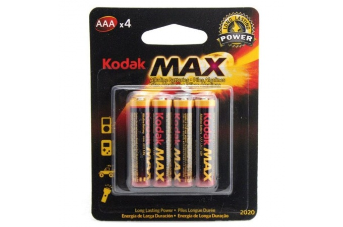 Батарея щелочная Kodak MAX LR03/286 AAA BL4 (цена за блистер 4 шт)