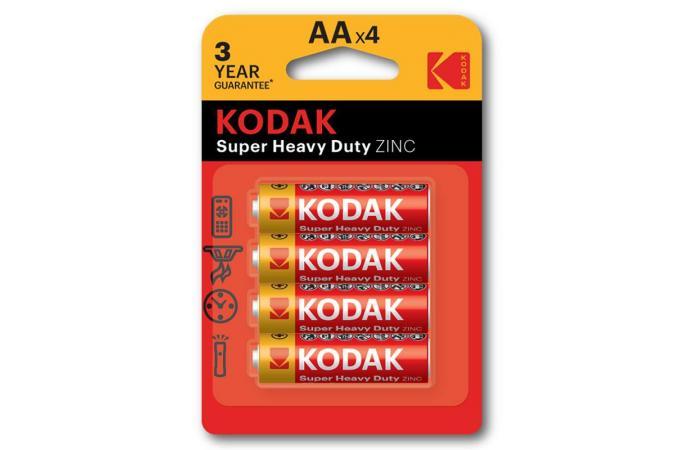Батарея солевая Kodak R6/316 AA BL4 (цена за блистер 4 шт)