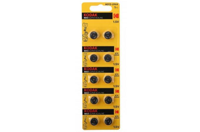 Батарейка часовая Kodak AG13 (357) LR1154, LR44 [KAG13-10] BL10 3132 (цена за блистер 10 шт)