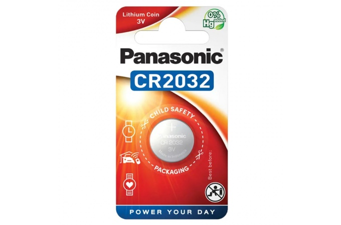 Батарейка литиевая Panasonic CR2032 BL1 (цена за 1 шт)