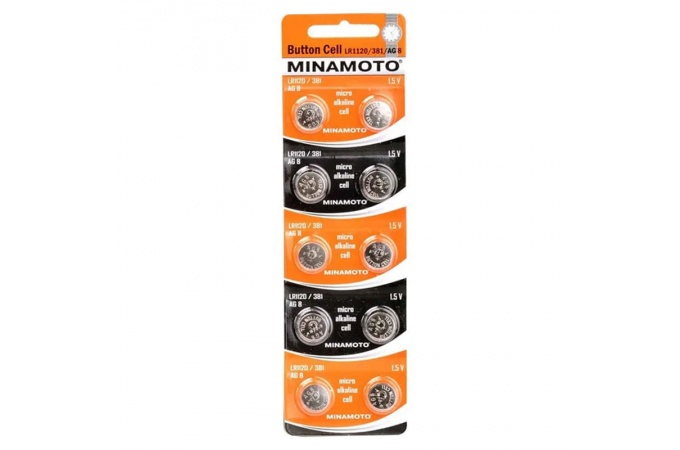 Батарейка часовая Minamoto G13 ( A357) BL10 (цена за блистер 10 шт)