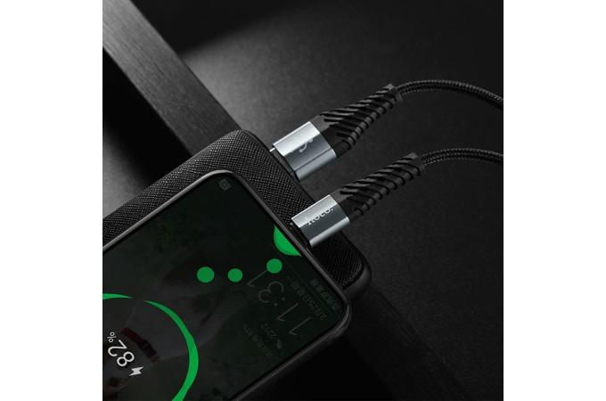 Кабель USB HOCO X38 Cool Charging data cable for Type-C (черный) 1 метр