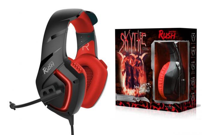 Наушники игровые Smartbuy RUSH SKYTHE, динамики 50мм, гибкий микрофон, красная (SBHG-8500)