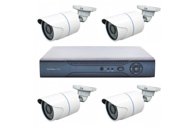 Орбита OT-VNK03 IP комплект видеонаблюдения (4 камеры, 1080P)