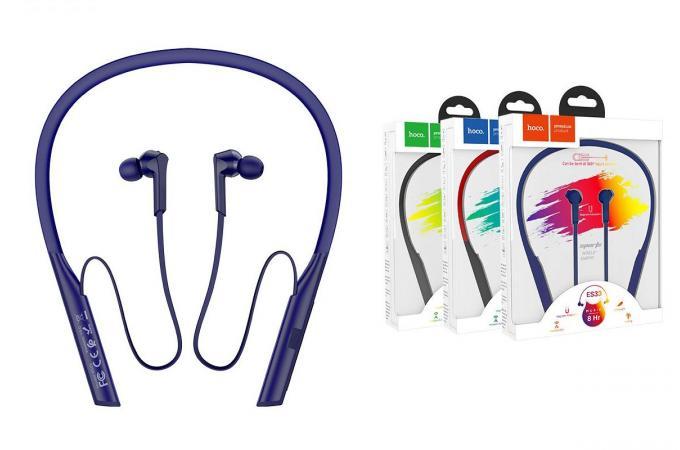 Беспроводные наушники ES33 Mirth sports wireless headset HOCO синяя