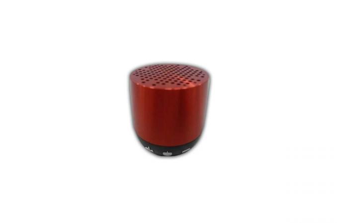 Портативная мини акустика PTH15  беспроводная колонка металл цвет красный