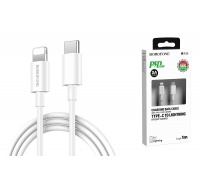 Кабель для iPhone BOROFONE BX36 Union PD flash charging data cable for Type-C to Lightning 1м белый