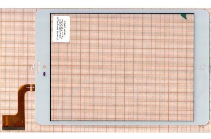 Тачскрин для планшета bb-mobile Techno 7.85 3G Slim TM859N (белый)