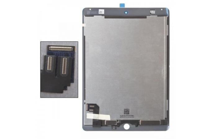 Дисплей для iPad Air 2 (A1566/ A1567) в сборе с тачскрином (черный) ref