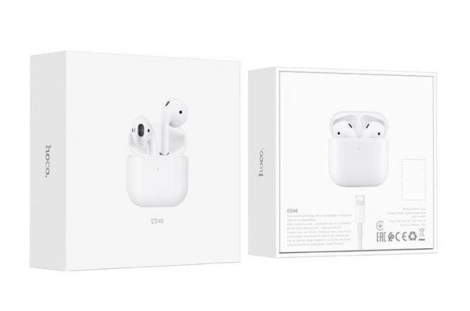 Беспроводные наушники ES46 Original series Cool Pro TWS wireless headset  HOCO белая